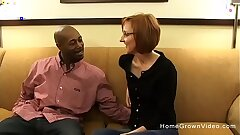 Tiny redhead mature gets fucked by a immense black dick