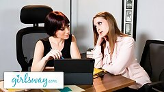 GIRLSWAY – Laney Grey is OBSESSED with MILF Boss Jessica Ryan
