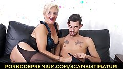 SCAMBISTI MATURI - Hardcore ass fucking with Italian light-haired grannie Shadow