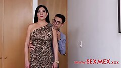 Sexy mature woman went to a job interview, where she got mesmerized and fucked in the ass.