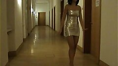 Amateur Mummy sucks and fucks in a hotel room