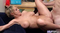 MILF Trip - Super horny light-haired big-boobed MILF can't get enough cock