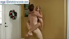 Wenona in hot mummy mom challenges son to grapple and gets pounded hard