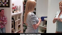 FamilyStrokes - Cougar Hardcore Fucked By StepSon