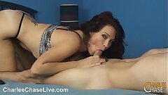 Kinky Mummy Charlee Chase blows a balloon and a cock!