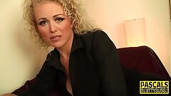 Cougar submissive throated