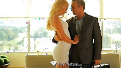 PureMature - Aaliyah Love grinds her mans shaft on her couch