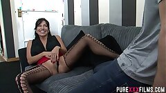 New step-sister invites brother to fuck