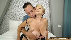 let the granny have fun with your pecker