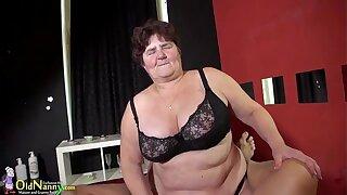BBW and slender grandmother gone sexual compilation