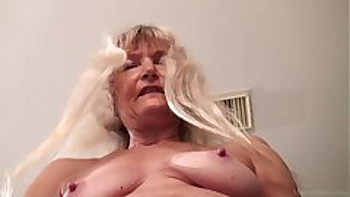 Thin granny masturbated with dildo FullHD 1080p 60fps