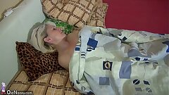 OldNanny Old skinny doll masturbating with young girl and her boyfriend