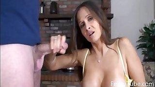 HotWifeRio Stepmom catches sonny jerking off