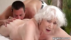 Senior mom Norma luvs fuck-a-thon after rubdown