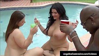 BBWs Angelina Castro & Lexxxi Lockhart Porked By Black Cock