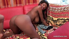 Pretty big boobed french black deep anal boinked and nutted on assets for a casting