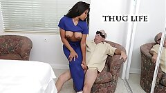 BLUE PILL MEN - Aged Man Frankie Takes His Blue Pill And Heads To Town On Jenna Foxx