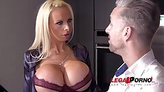 Busty Sex Crazed Milf Sophie Anderson gets her Taut Ass DAP'ed by 3 Hard-ons FS035