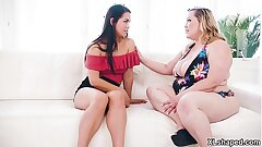 Lesbian Cougar  Bunny De La Cruz ultimately meet her sons-in-law girlfriend Alina Lopez and gave her a lesbo sex that makes her happy until they collective orgasms.
