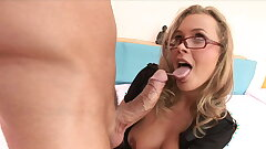Mummy in Police Uniform With Big Tits Rides Big Dick, Anal & Hard