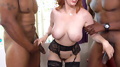 Chesty MILF Lauren Phillips Is Eager for Anal Sex With BBC
