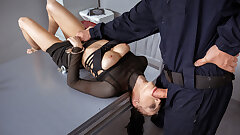 LAW4k. When cops catch a young slut they know how to punish