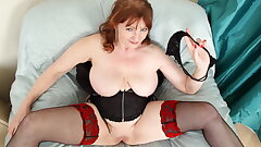 Busty gilf Lady Ava from the UK loves naughty play