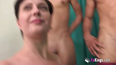 BUSTY Romanian housewife picks and bangs one of the two