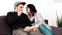 MATURE4K. Guy is very upset but stepmother cheers him up
